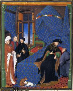 Charles VI de France représenté par le maître de Boucicaut en 1412