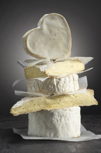 Soft cheeses with a bloomy rind