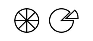 La coupe des fromages de forme ronde et plate