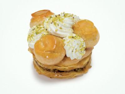 Baklava Saint-Honoré fleur d'oranger & pistache